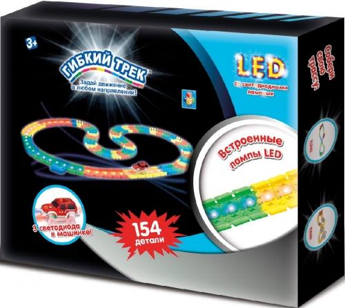 Гибкий Трек LED 154 деталь со световыми лампами