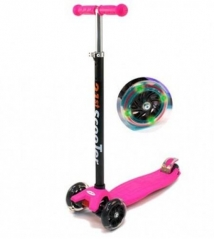 Кикборд 21st Scooter SKL-07L розовый