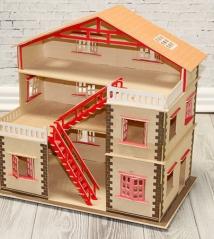 Сборная деревянная модель Кукольный домик