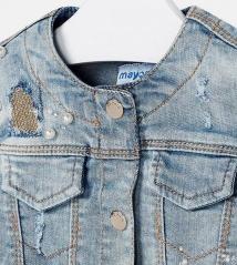 Джинсовая куртка для девочки Mayoral 3408-49