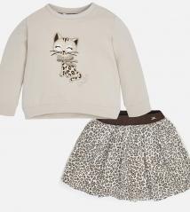 Костюм с юбкой для девочки Mayoral 4982-60