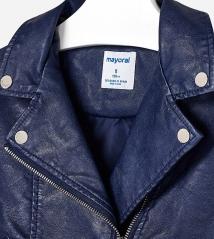 Кожаная куртка для девочки Mayoral 6410-40